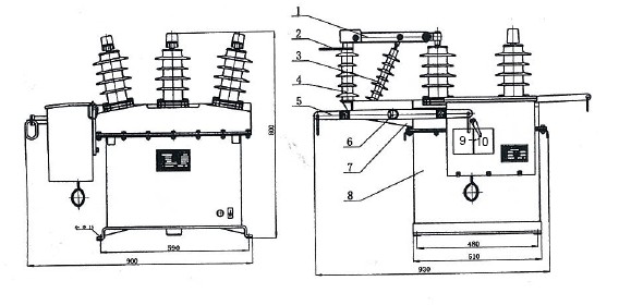 outdoor pole mounted circuit breaker